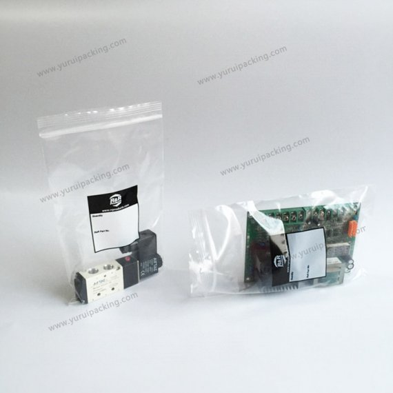 Auto Spare Parts Ziplock Packaging Bag