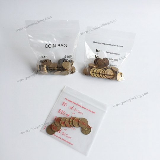 PE Coin Ziplock Bag