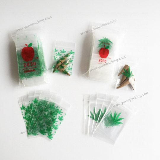 Apple Brand Mini Zip Lock Baggie, 2030 Design