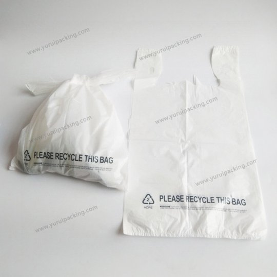 White T-shirt Bag Vest Type