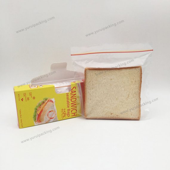 Single Zip Sandwich Resealable Bags