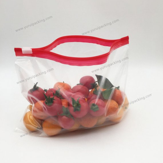 Food Storage Slider Bag Color Box Packaging