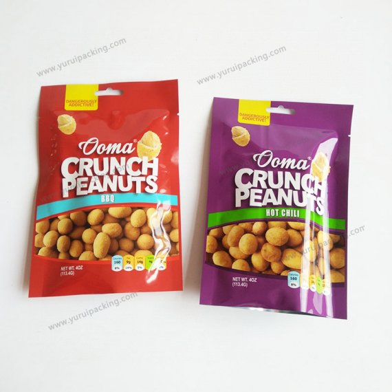 Dried Nuts Packaging Bags With Zipper