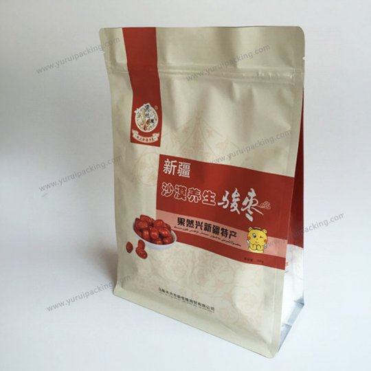 Custom Printing Stand Up Nut Packaging Bag With Resealable Zip