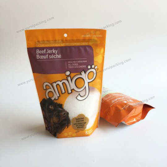 Stand Up Pet Food Plastic Bag